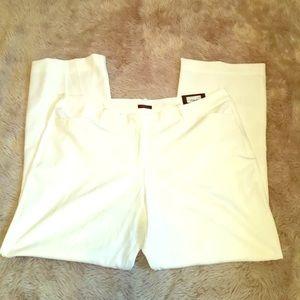 Worthington Trouser pant white plus short modern